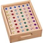 Juwelen-Bausteine im Holzkasten, ab 3 Jahre (kurzfristig nicht lieferbar)