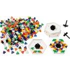 Prismo Kreisel 500 Dreiecke mit Kreiselrahmen inkl. Glitzer-Steinen 5er-Set durchgefärbt