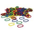 Kettenglieder Kunststoff, 4 Farben sortiert - 200 Stück, ab 2 Jahre