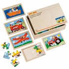 Puzzlebox Fahrzeuge, 10 Stück je 6-8 Teile, ab 3 Jahre