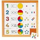 Zähldiagramm 1 - 5, Lernspiel, ab 4 Jahre