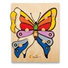 Holz-Puzzle große Griffe Schmetterling, ab 3 Jahre