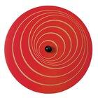 Wandkreisel II Welle, blau und rot, 63 cm Ø,