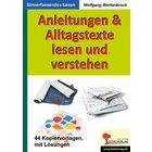Anleitungen & Alltagstexte lesen und verstehen, Kopiervorlagen