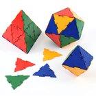 Polydron Mengensatz gleichseitige Dreiecke groß, 50 Teile in 4 Farben