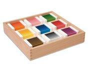 Farbtäfelchen - Schattierungskasten mit neun Farben