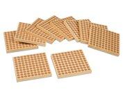 Holzquadrat, per 10 Stück