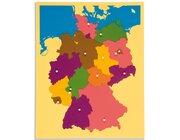 Puzzlekarte Deutschland, XXL, 57 x 45 cm