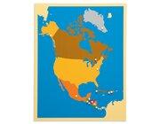 Puzzlekarte Nordamerika, ab 5 Jahre