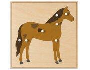 Tierpuzzles: Pferd