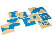 Karten Land - Wasser Kunststoff, farbig