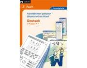 Arbeitsblätter mit Word gestalten - Deutsch, CD-ROM in Einzellizenz, 1.-4. Klasse