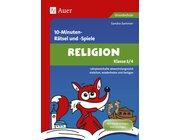 10- Minuten- Rätsel und -Spiele Religion, Buch, 3.-4. Klasse
