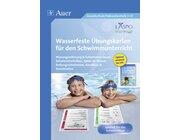 Wasserfeste Übungskarten für den Schwimmunterricht, alle Klassenstufen