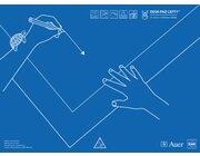 Schreibtischauflage für Linkshänder mit Übungsheft, alle Klassenstufen