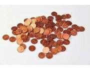 Geld Euro-Münzen Spielgeld 1 Cent