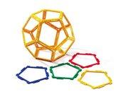 Polydron Frameworks Mengensatz Fünfecke/Pentagone 40 Teile