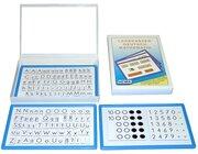 Legekasten Deutsch & Mathematik in blau mit 3 Tafeln, 215 Elemente, 1.-2. Klasse