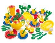 dantoy Sandspielzeug, Frühstückservice KIGA-Packung, 78 Teile