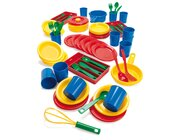 dantoy Sandspielzeug, Ess-Servies für 12 Kinder, 81 Teile