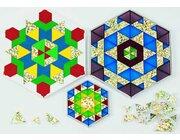Prismo Glitzer Dreiecke 100 Stück Gold durchgefärbt, ab 4 Jahre