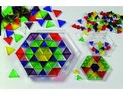 Kleinkinder-Riesen-Prismo Dreiecke 300 Stück transparent
