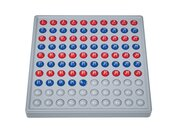 ABACO 100 mit Zahlen - Modell A 10/10 Kugeln (rot/blau), 6-9 Jahre