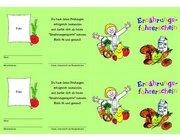 Gesunde Ernährung - Klassensatz Führerscheine, 1.-2. Klasse