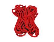 Satz mit 5 Springseilen, rot,  300 cm lang, 9 mm stark
