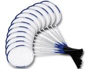Badminton Schulset 12 Schläger, ab 7 Jahre