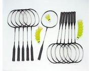 Badminton Schulset Alu-Line Plus mit Tasche, 12 Schläger, 12 Bälle mittel