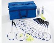 Badminton-Schulset Plus mit Tasche, 12 Schläger, 12 Bälle mittel