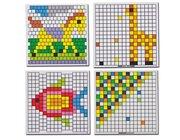 Mosaik-Arbeitskarten, 6 Stück