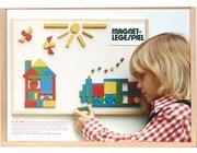 80-teiliges Magnet-Legespiel im Holzkasten, ab 3 Jahre