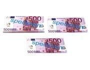 Geld 100 Stück Euro-Scheine Spielgeld zu 500 Euro