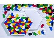 Prismo Trapezspiel mit 22-cm-Legerahmen 6er-Set durchgefärbt inkl. Vorlagen