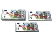 Geld 100 Stück Euro-Scheine Spielgeld zu 5 Euro