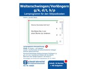 Stöpselkarten 'Weiterschwingen/Verlängern g/k, d/t, b/p'