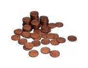 Geld Euro-Münzen Spielgeld 5 Cent