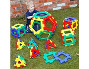 Giant Polydron Platonic Solids Set, 52 Teile, 1 Poster