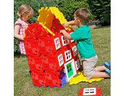Giant Polydron House Builder Set, 72 Teile, 1 Poster