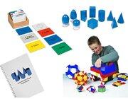 Nienhuis Mathematik-Set 3: Geometrie: Fläche und Körper, inkl. geometrische Körper und Aufgabenkarten mit Selbstkontrolle (Klassensatz)