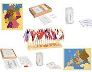 Geografie-Set 1: Deutschland und Europa: Puzzlekarte mit Kontrollkarten und Bezeichnungskarten, inkl. Flaggen