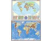 Westermann Posterkarte Erde Set politisch und physisch