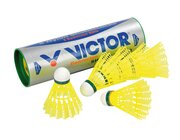 Badminton-Bälle, blau - Geschwindigkeit mittel, 6 Stück
