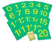 Zahlenweg 0-20 mit Anleitung, 4-8 Jahre