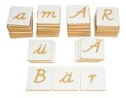 Buchstaben in Schreibschrift, Sprach- und Sinnesmaterial, ab 5 Jahre