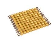 Goldquadrat 10x10 goldene Perlen, lose Perlen Kunststoff