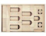 Set Holzkasten: Inhalt 46 Teile, Buche natur