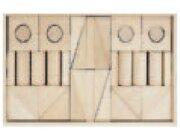 Set Holzkasten: Inhalt 40 Teile, Buche natur